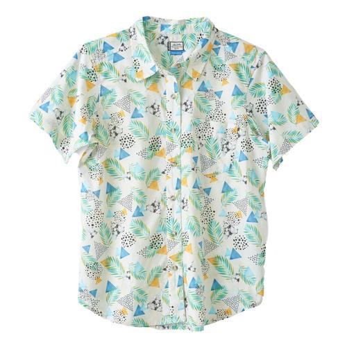 Kavu Women's Girl Party Short Sleeve Shirt Bluemirage_1220