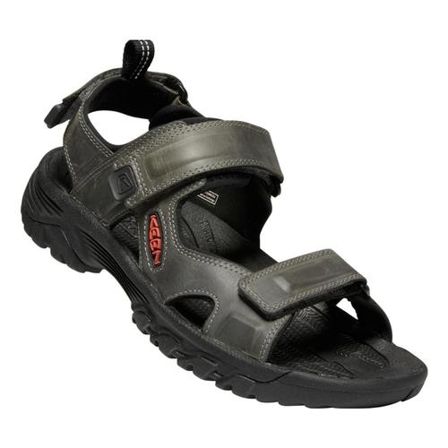KEEN Men's Targhee III Open Toe Sandals Grey.Blk