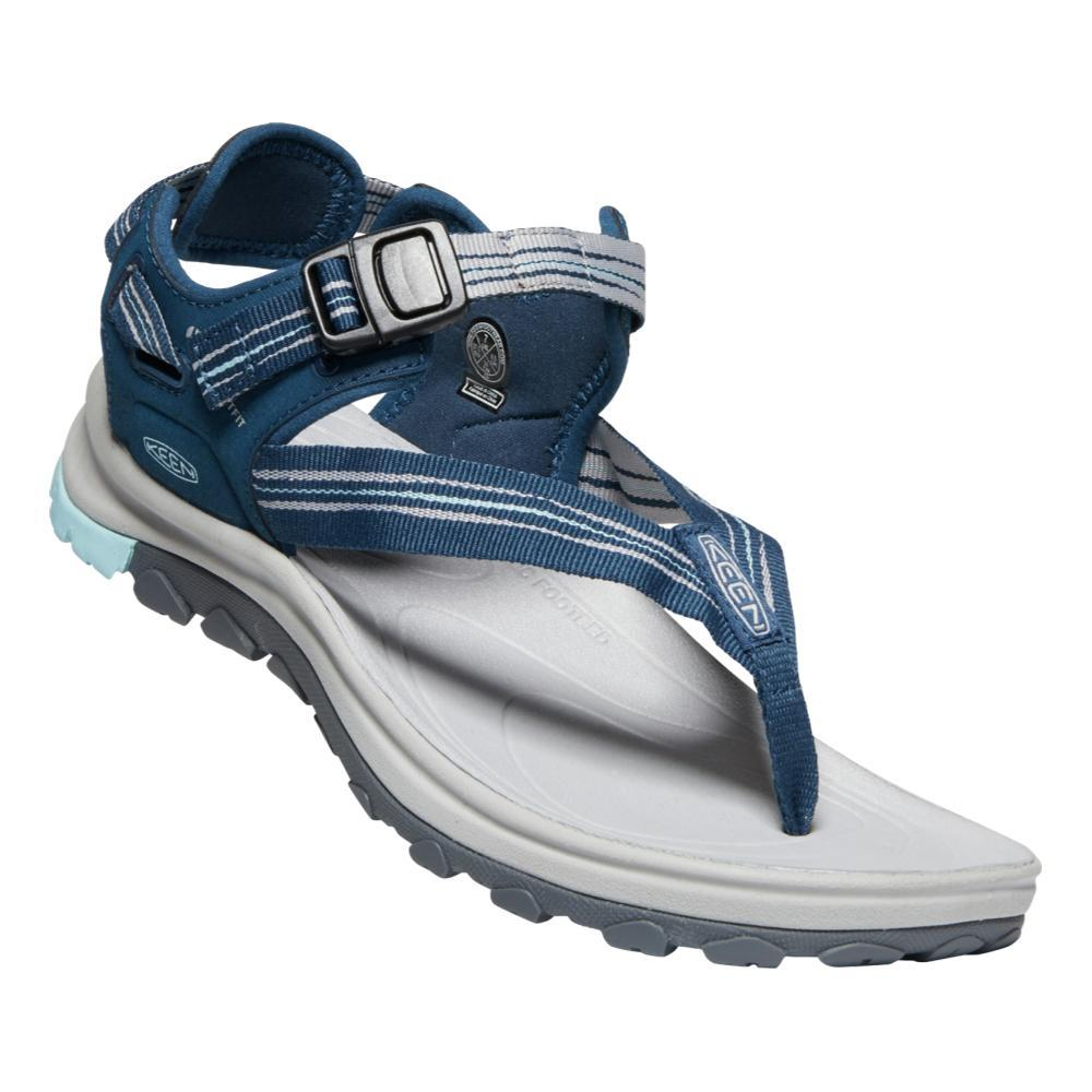 KEEN Women's Terradora II Toe Post Sandals NVY.LTBLU