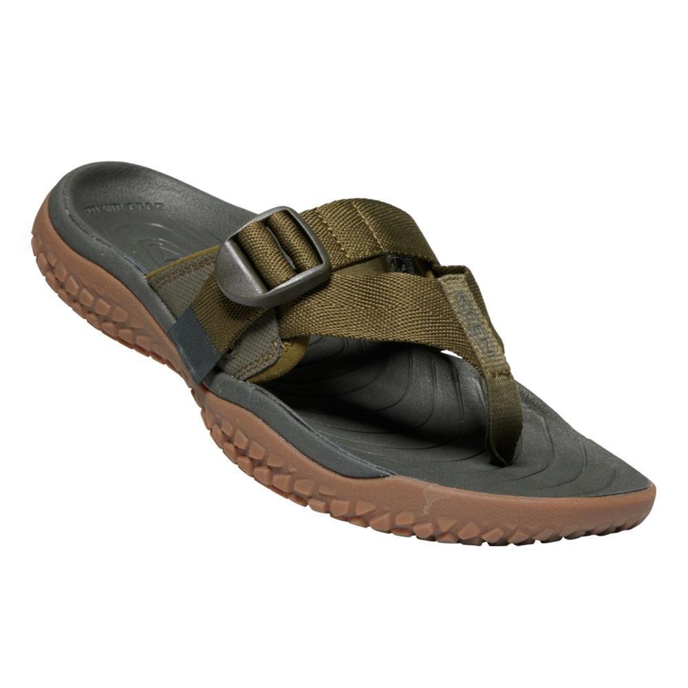 KEEN Men's SOLR Toe Post Sandals DKOLIVE