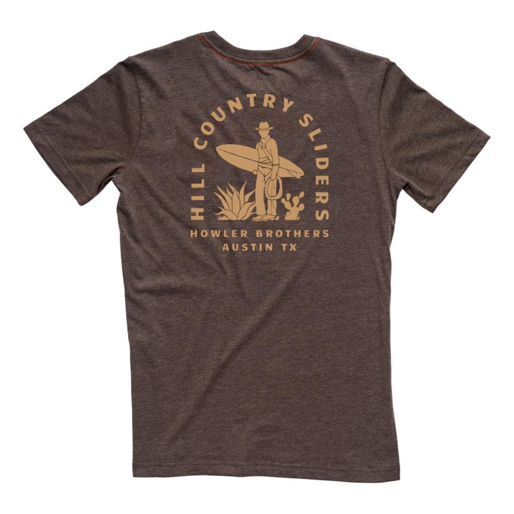 Howler Brothers Men's Hill Country Sliders Pocket T Shirt ESPRESSO