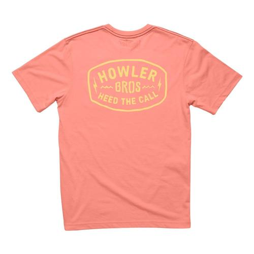 Howler Brothers Men's Painted Howler Pocket T-Shirt Coral