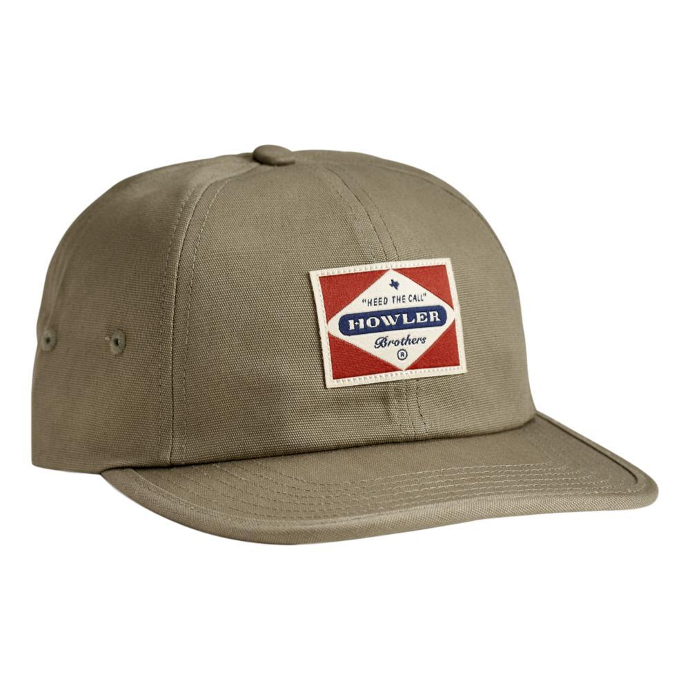 Howler Brothers Posse Badge Strapback Hat OLIVEGREEN