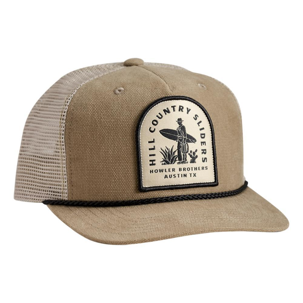 Howler Brothers Hill Country Sliders Snapback Hat TAUPE