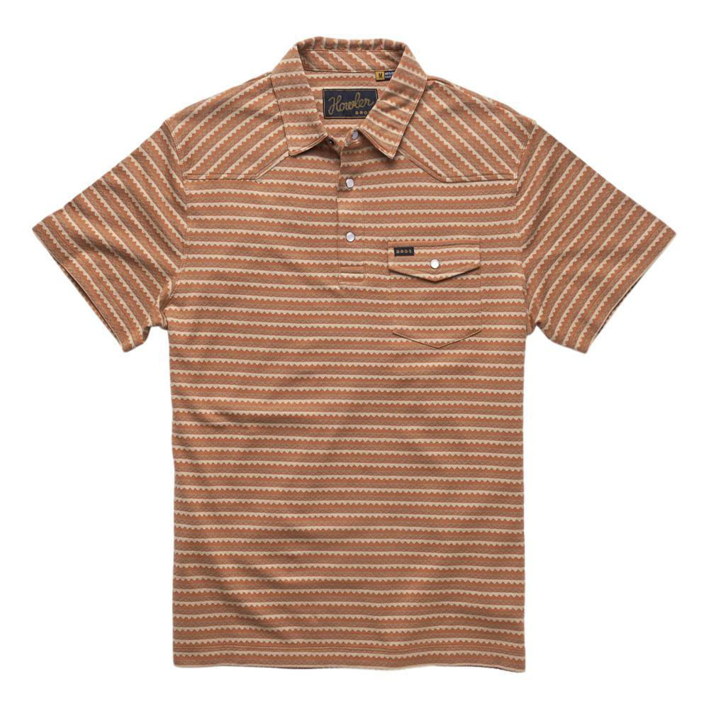 Howler Brothers Men's Ranchero Jacquard Polo Shirt ZJCOPPER_OWM