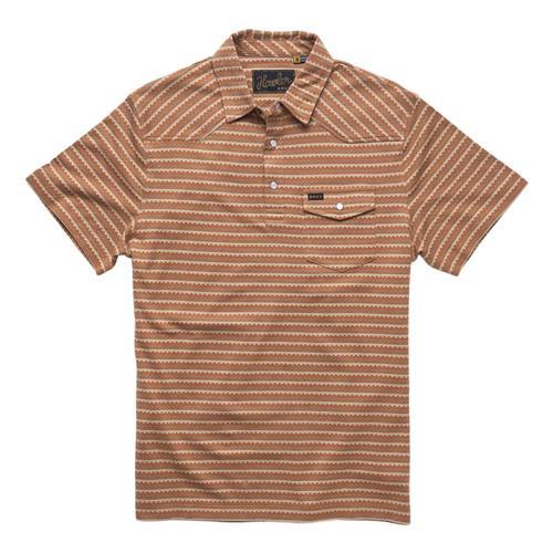 Howler Brothers Men's Ranchero Jacquard Polo Shirt Zjcopper_owm