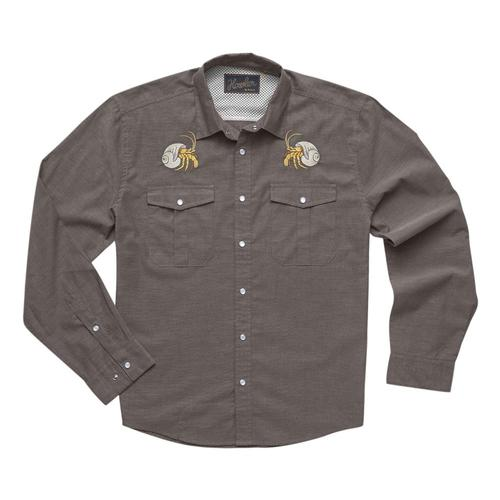 Howler Brothers Men's Gaucho Snapshirt - Pure Agave Hermit_bro