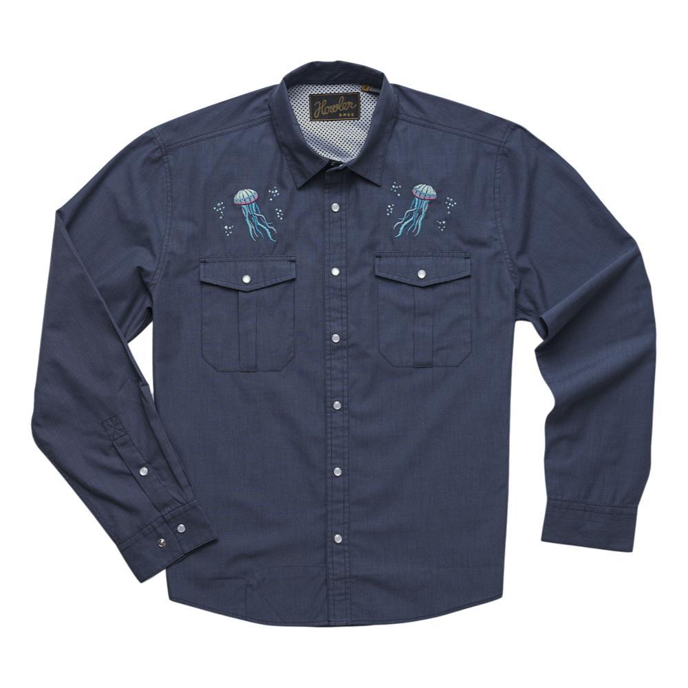 Howler Brothers Men's Gaucho Snapshirt - Pure Agave JELLYFISH_BBM