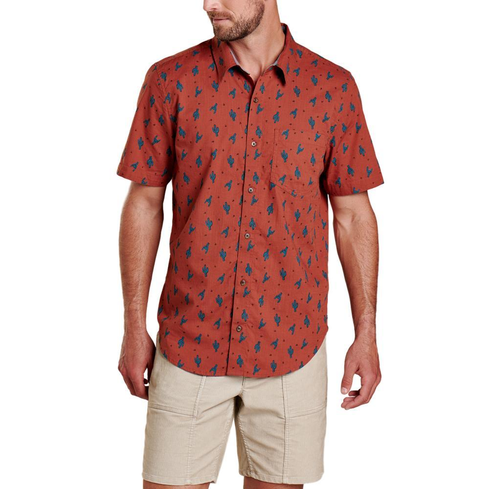 Toad&Men's Fletch Short Sleeve Shirt CACTUS_609