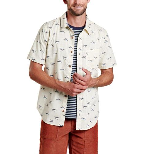 Toad&Men's Fletch Short Sleeve Shirt Oatmeal_116