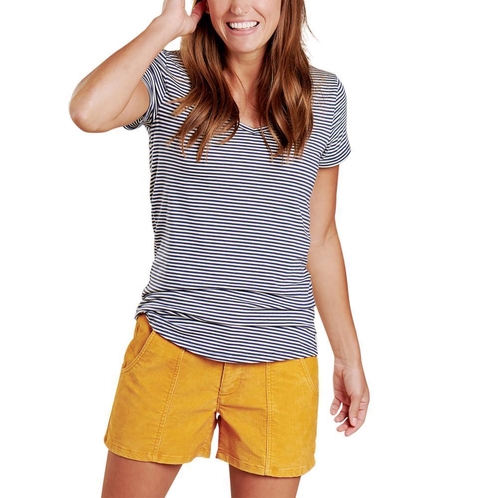 Toad&Co Women's Marley II Short Sleeve Tee NAVYSTRIPE_408