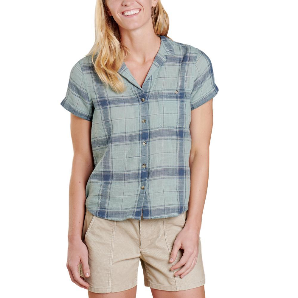 Toad&Co Women's Camp Cove Short Sleeve Shirt BLUESURF_480
