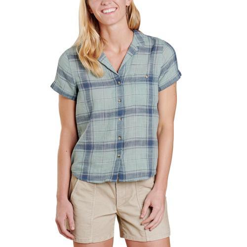 Toad&Co Women's Camp Cove Short Sleeve Shirt Bluesurf_480