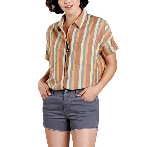 Toad&Co Women's Funday Short Sleeve Shirt Desert_250