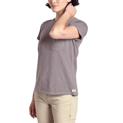 Toad&Co Women's Primo Short Sleeve Crew Shirt Quail_516