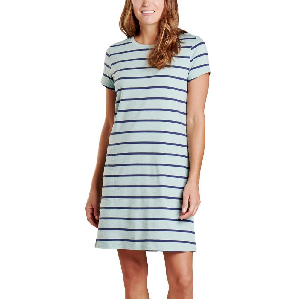 Toad&Co Women's Windmere II Short Sleeve Dress BLUESURF_952