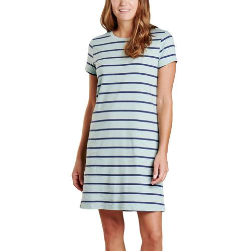 Toad&Co Women's Windmere II Short Sleeve Dress Bluesurf_952