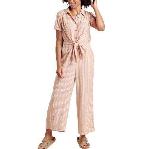Toad&Co Women's Taj Short Sleeve Jumpsuit Sunset_807