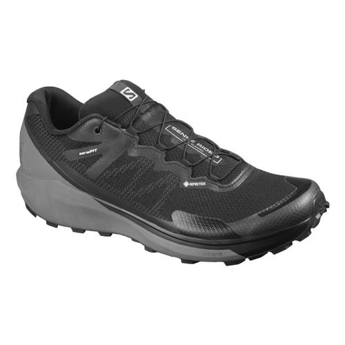 Salomon Men's Sense Ride 3 GTX Invisible Fit Trail Running Shoes Bk.Qshd.Mag