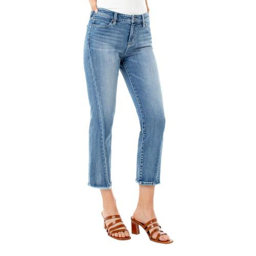 Liverpool Women's Crop Straight Twisted Front Side Seam Jeans Damask_dmk
