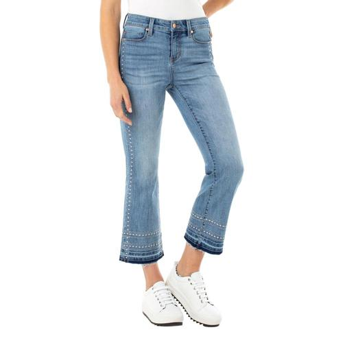 Liverpool Women's Crop Flare Jeans Laplaya_lpy