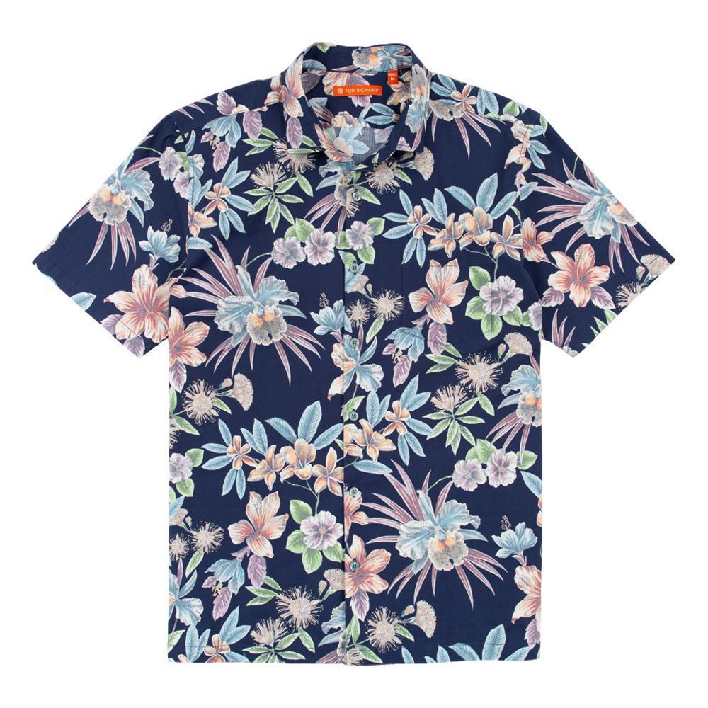 Tori Richard Men's Still Blooming Short Sleeve Shirt NAVY