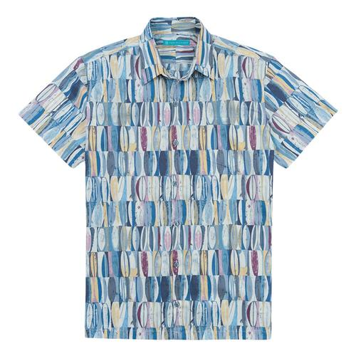 Tori Richard Men's Board Room Short Sleeved Shirt Oceanblue