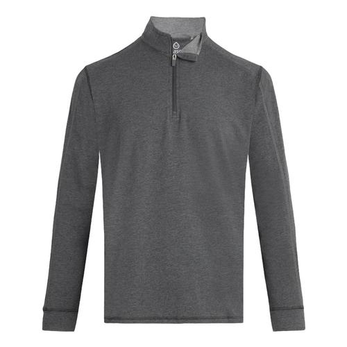 tasc Men's Carrollton 1/4 Zip Top Blackhthr_20