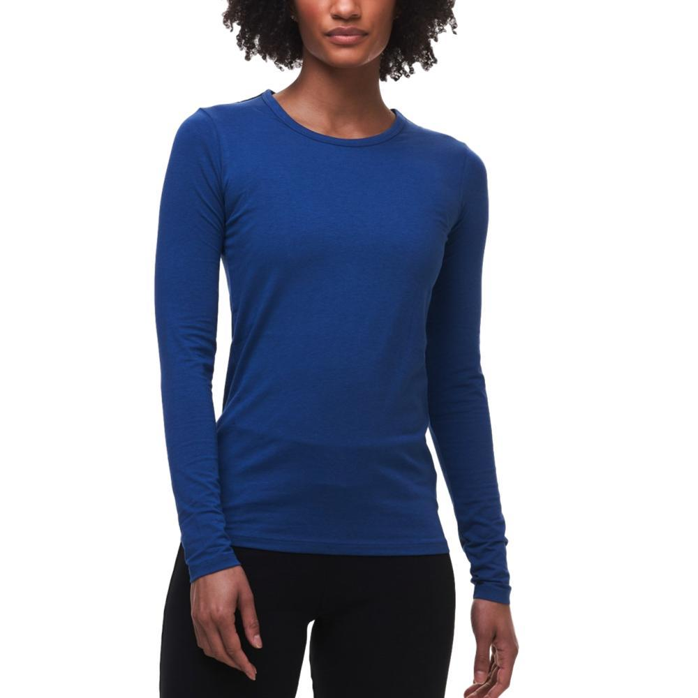 tasc Women's NOLA Crew Neck Long Sleeve Shirt TRUEBLUE_420