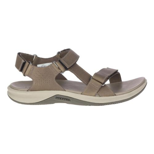 Merrell Women's Tideriser Luna Convert Leather Sandals Brindle