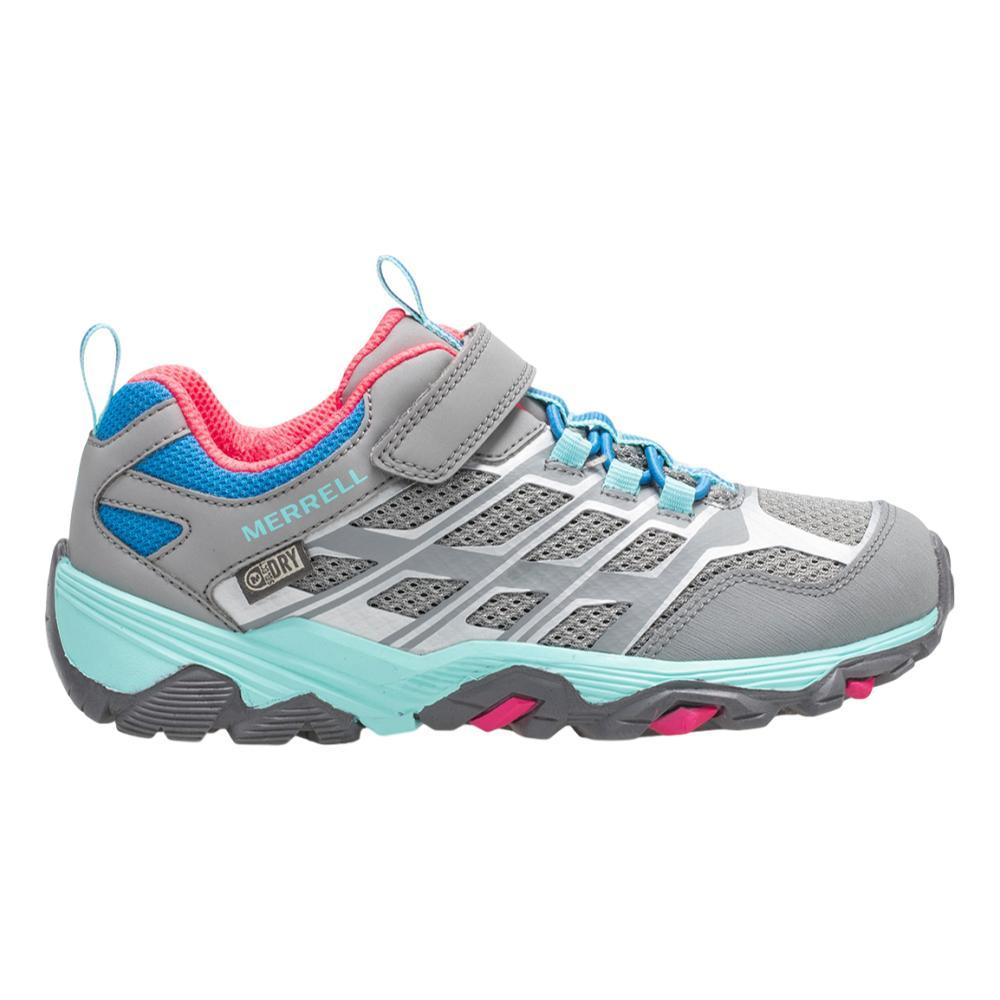 Merrell Kids Moab FST Low A/C Waterproof Hiking Shoes GRYTRQPNK