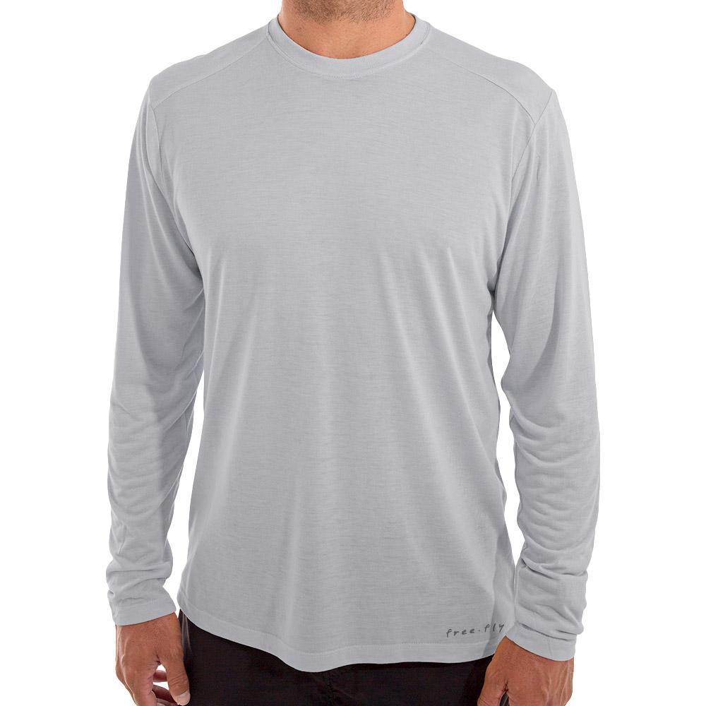 Free Fly Men's Bamboo Lightweight Long Sleeve Shirt ASPENGRY106