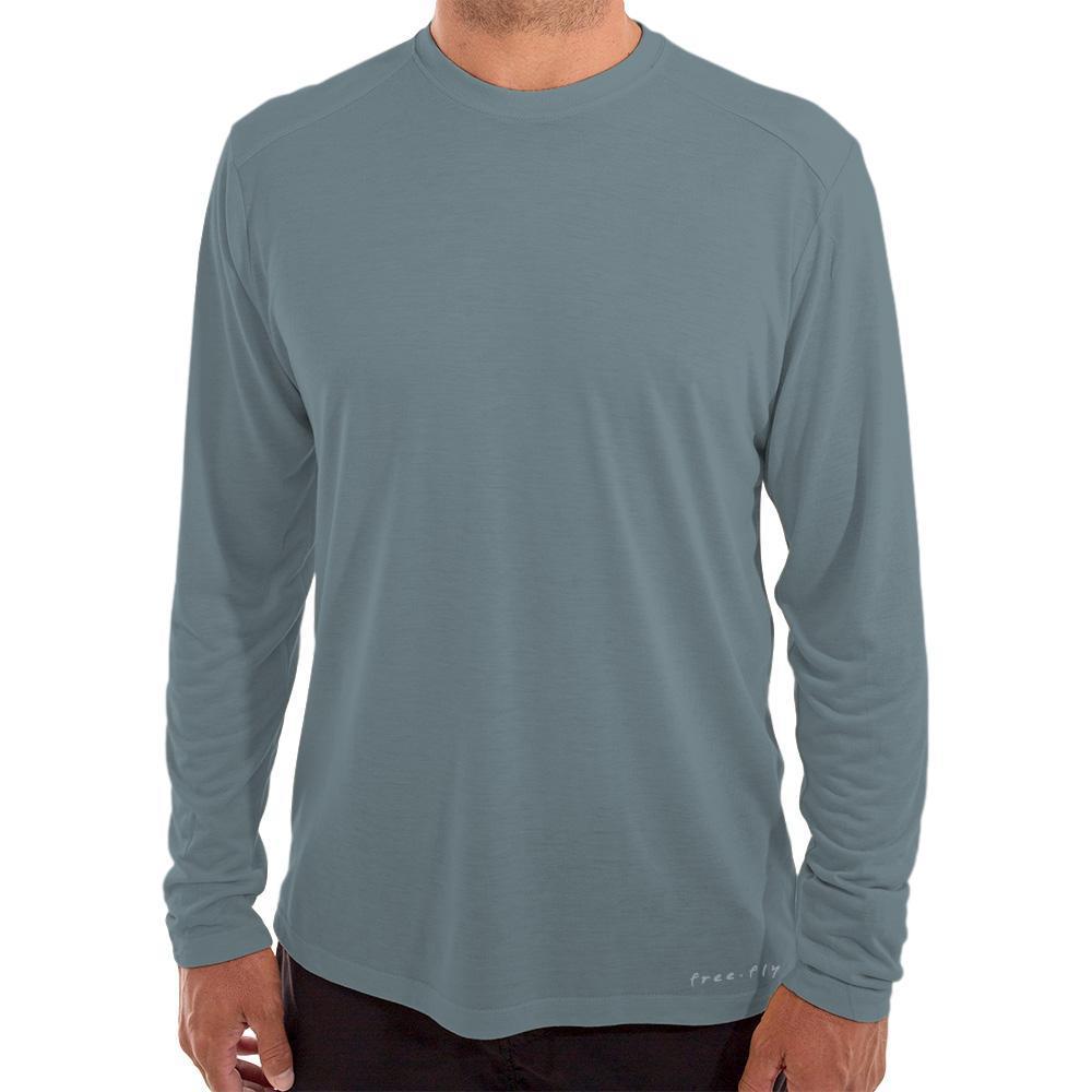 Free Fly Men's Bamboo Lightweight Long Sleeve Shirt BLUESTL107