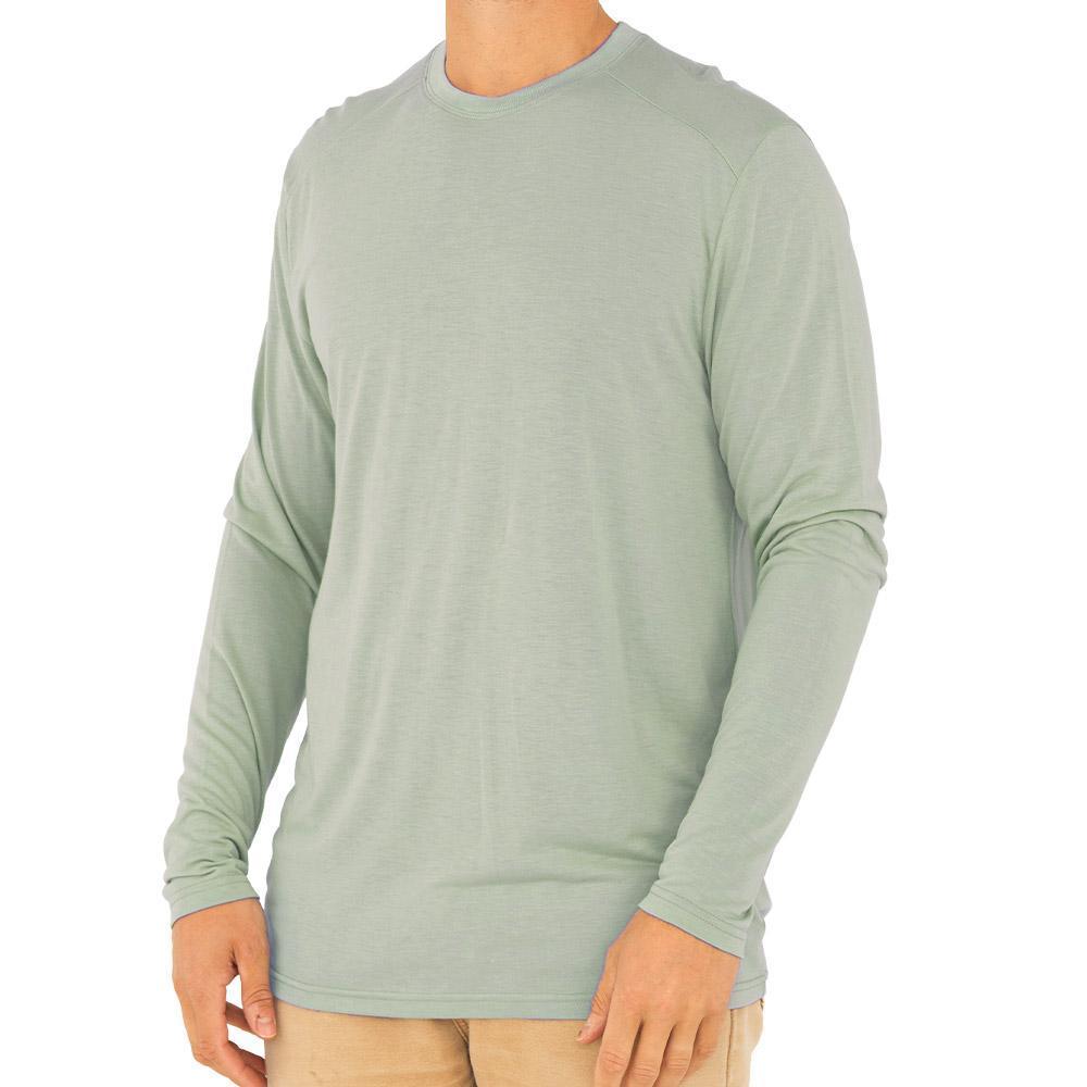 Free Fly Men's Bamboo Lightweight Long Sleeve Shirt SEAGLASS118