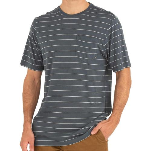 Free Fly Men's Bamboo Channel Pocket Tee Bluedsk106