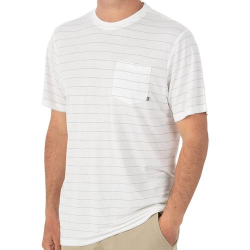 Free Fly Men's Bamboo Channel Pocket Tee White102