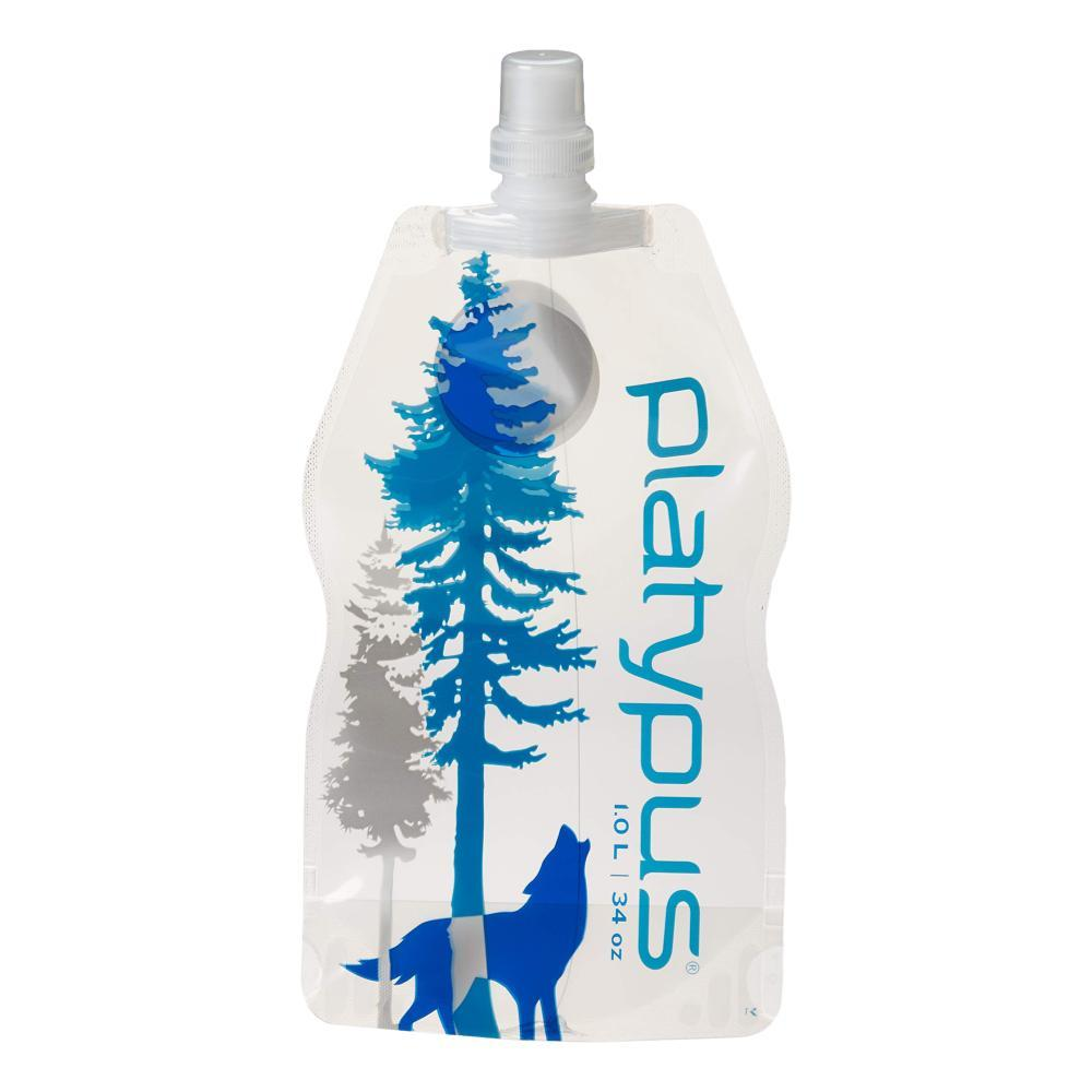 Platypus SoftBottle With Push-Pull Cap - 1L WILD_BLUE