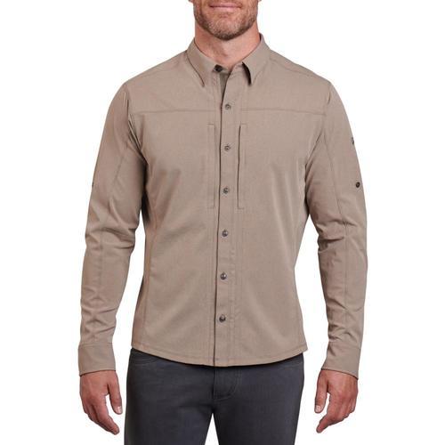 KUHL Men's ExpeditionAir Long Sleeve Shirt Taupe