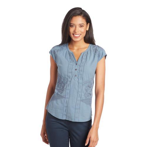 KUHL WomenÕs Amelie Short Sleeve Shirt Overcast