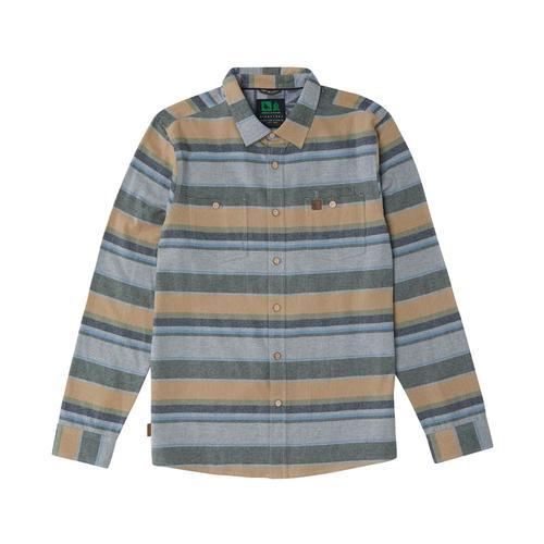 HippyTree Men's Basalt Flannel Greystirpe