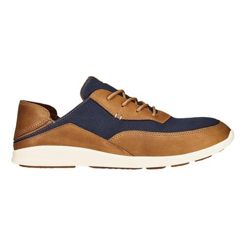 OluKai Men's Kihi Leather Sneakers Trblu.Tan_de34