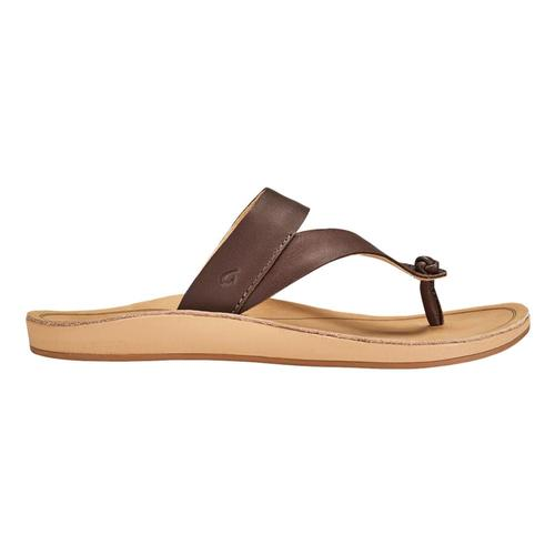 OluKai Women's Kaekae Ko'o Leather Beach Sandals Kcof.Gsnd_sags