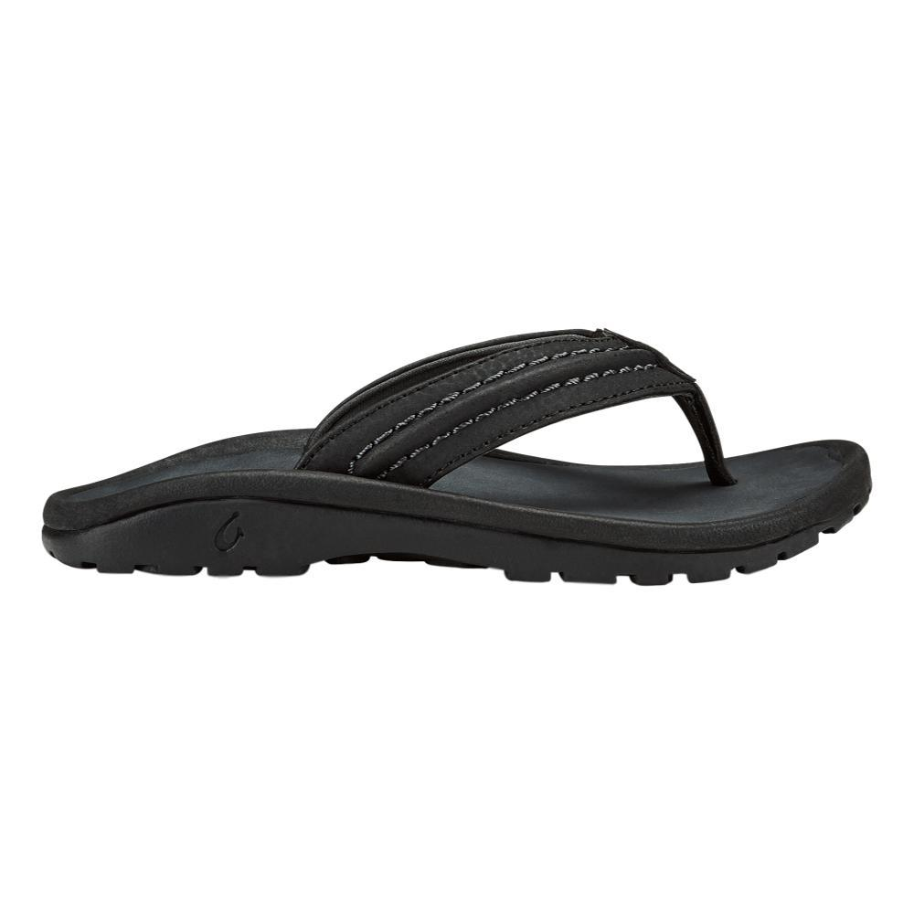 OluKai Kid's Hokua Beach Sandals BLACK406C