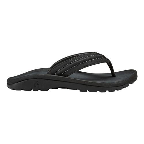 OluKai Kid's Hokua Beach Sandals Black406c