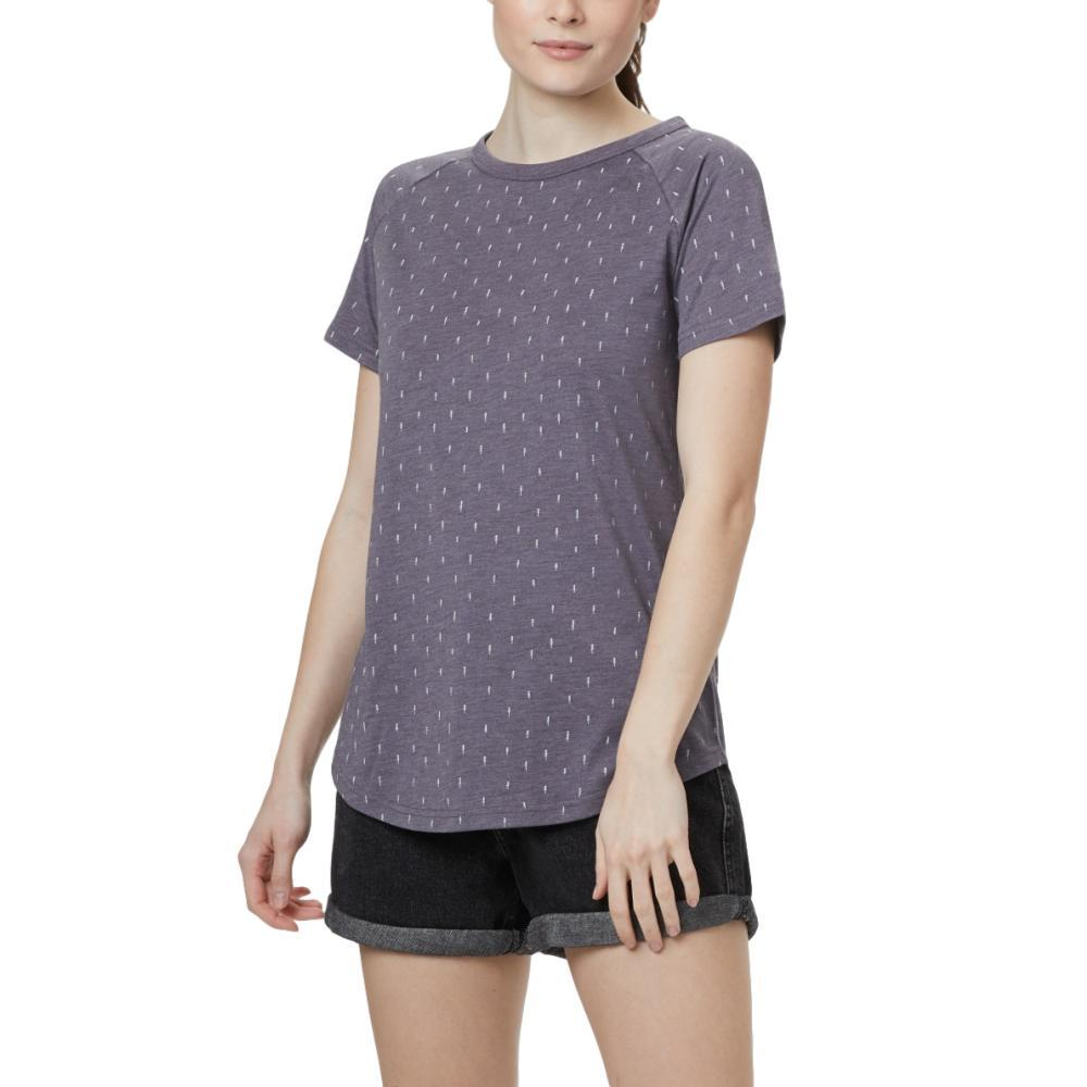 tentree Women's Tree Print Raglan T-Shirt BGREY_0966