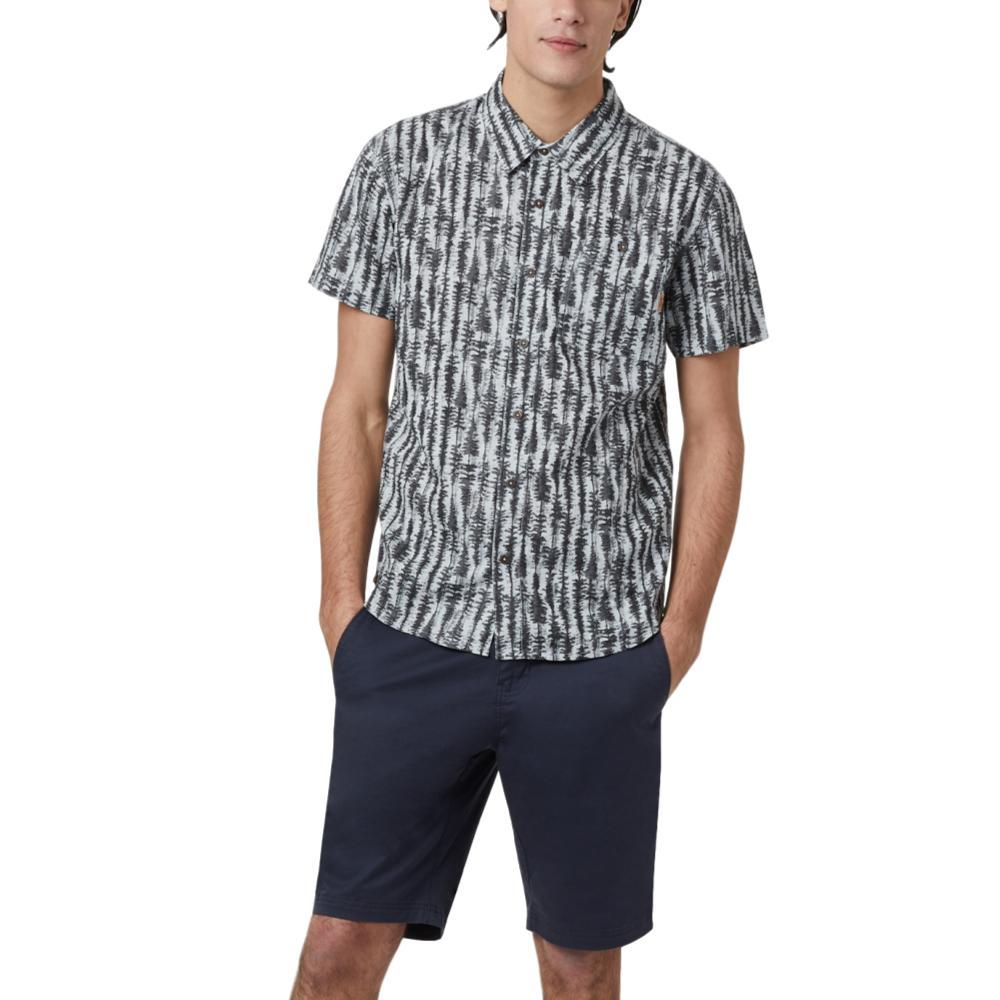 tentree Men's Hemp Short Sleeve Button Up Shirt GREYTREE_754