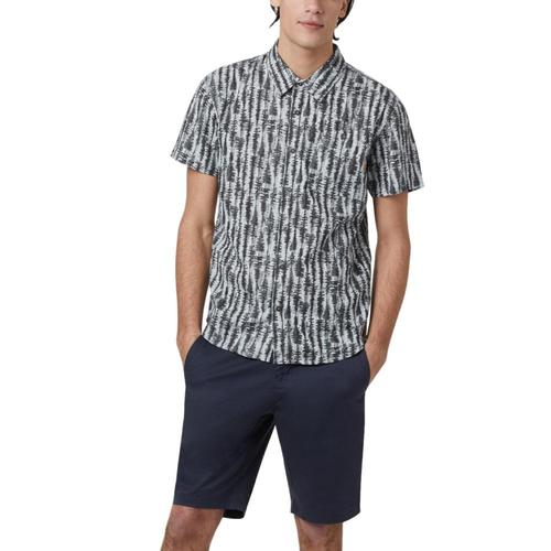tentree Men's Hemp Short Sleeve Button Up Shirt Greytree_754