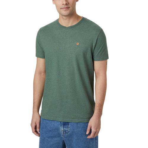 tentree Men's Boulder V-Neck Short Sleeve T-Shirt Forest_701