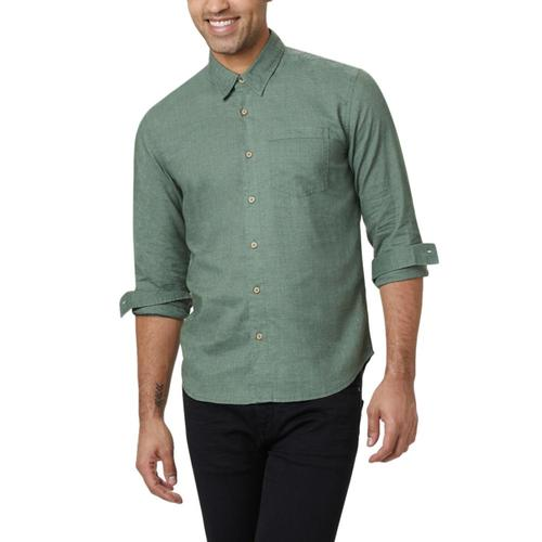 tentree Men's Mancos Longsleeve Shirt Forest_701