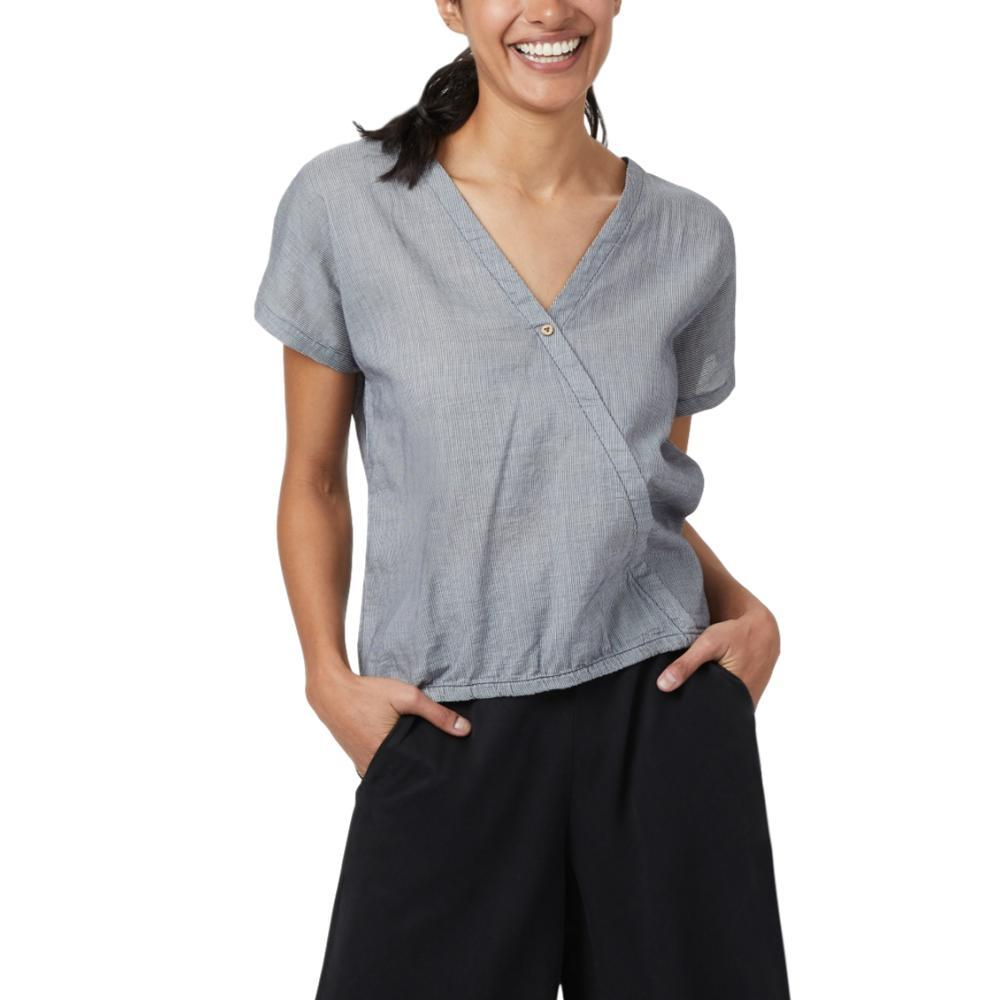 tentree Women's Isa Woven Shirt DARKOCEAN_744